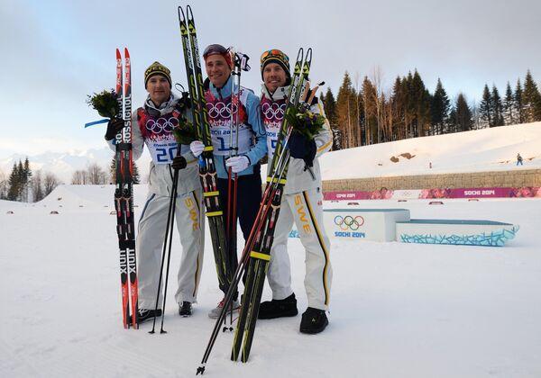 Теодор Петерсон, Ола Виген Хаттестад и Эмиль Йенссон (слева направо)