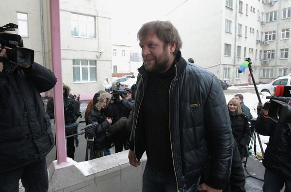 Боец смешанных единоборств Александр Емельяненко