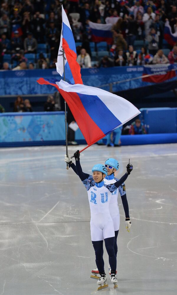 Виктор Ан (на первом плане) и Владимир Григорьев