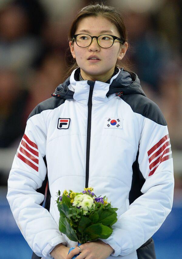 Шим Сук Хи (Корея), завоевавшая серебряную медаль в забеге на 1500 метров