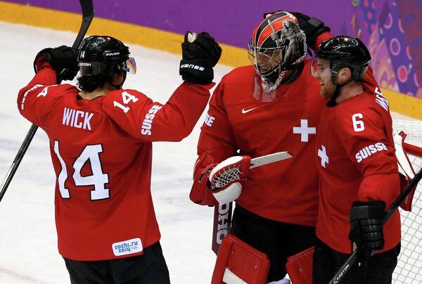 Игроки сборной Швейцарии по хоккею