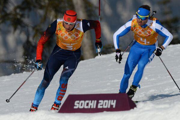 Слева направо: Александр Легков (Россия), Роланд Клара (Италия)