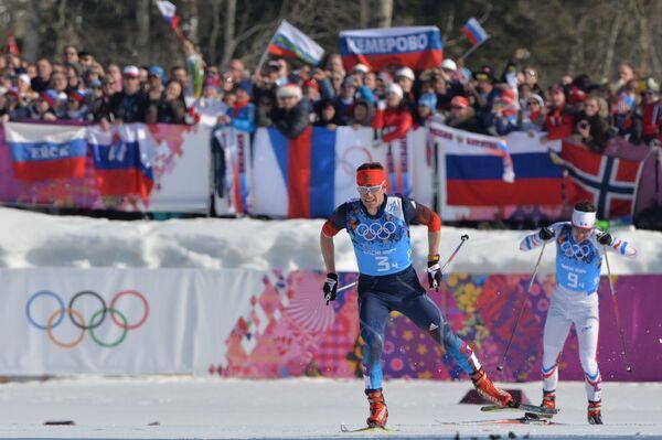 Слева направо: Максим Вылегжанин (Россия), Иван Перрийя Буате (Франция)
