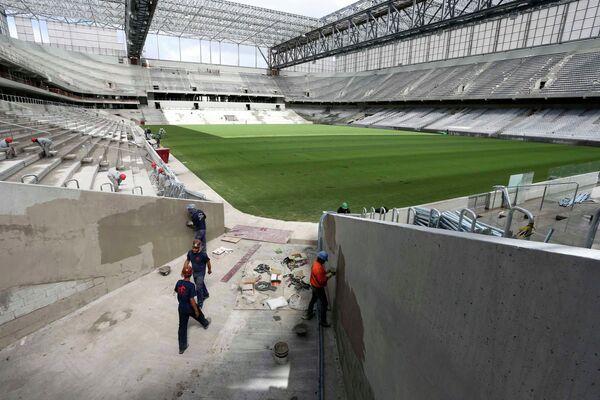 Стадион Арена Байшада в бразильском городе Куритиба