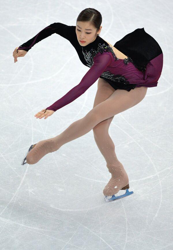 Ким Ю На (Южная Корея) выступает в произвольной программе