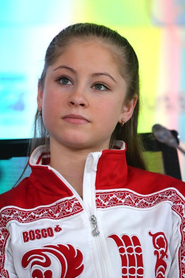 Олимпийская чемпионка по фигурному катанию Юлия Липницкая
