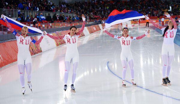 Конькобежки сборной России