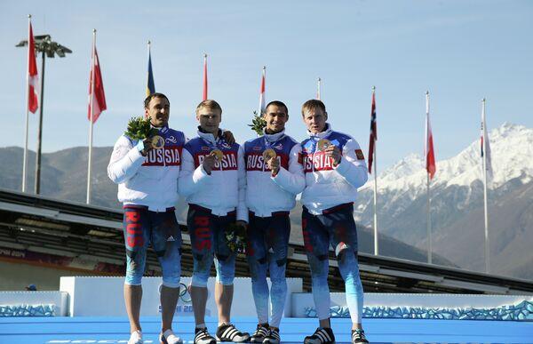 Александр Зубков, Алексей Воевода, Алексей Негодайло и Дмитрий Труненков (Россия)