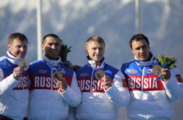 Александр Зубков, Алексей Воевода, Алексей Негодайло и Дмитрий Труненков (слева направо)