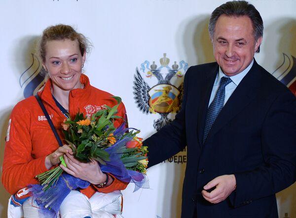 Ольга Зайцева и Виталий Мутко