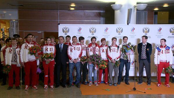Встреча олимпийской сборной России в Москве