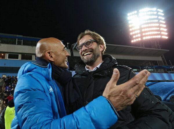 Главный тренер Зенита Лучано Спаллетти и главный тренер ФК Боруссия (Дортмунд) (слева направо)