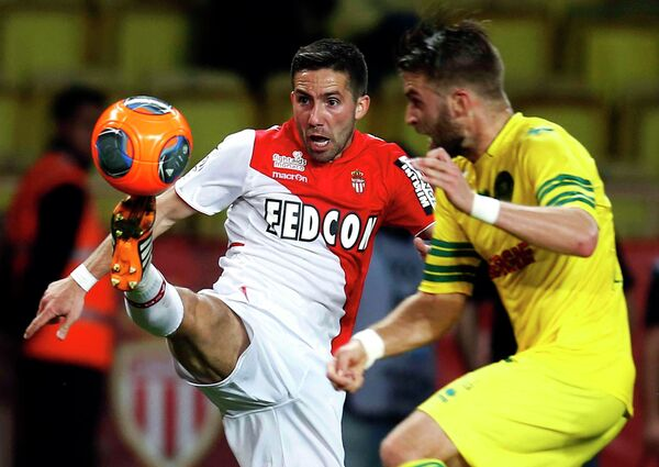 Игровой момент матча Монако - Нант