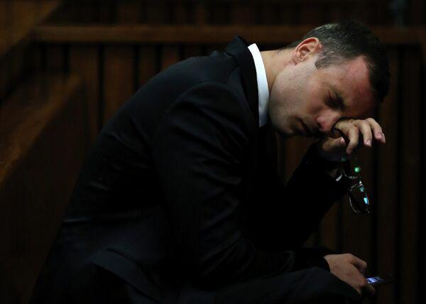 Оскар Писториус во время судебных слушаний