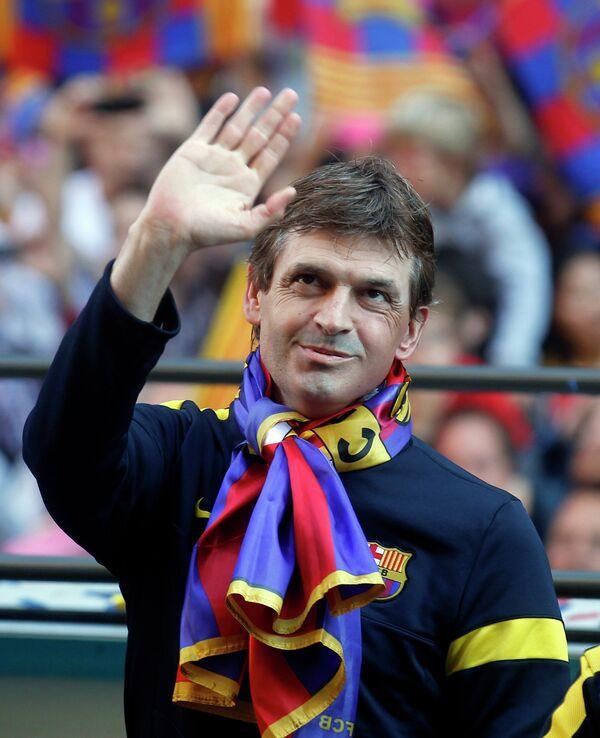 Экс-тренер Барселоны Тито Виланова.