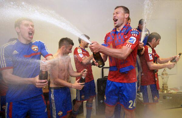 Игроки ЦСКА после победы