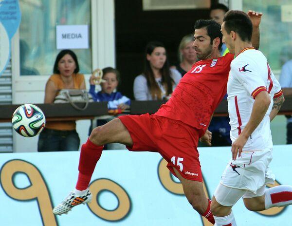 Игровой момент матча Иран - Черногория