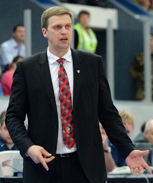 Главный тренер баскетбольного клуба Летувос Ритас Дайниус Адомайтис