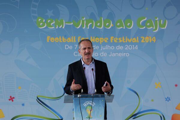 Министр спорта Бразилии Алдо Ребело