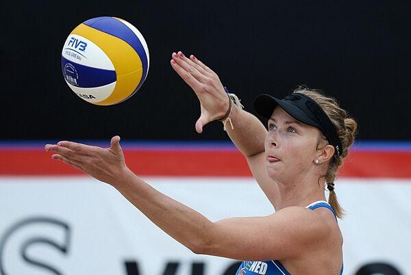Игрок сборной Нидерландов по пляжному волейболу Марлен ван Йерсель