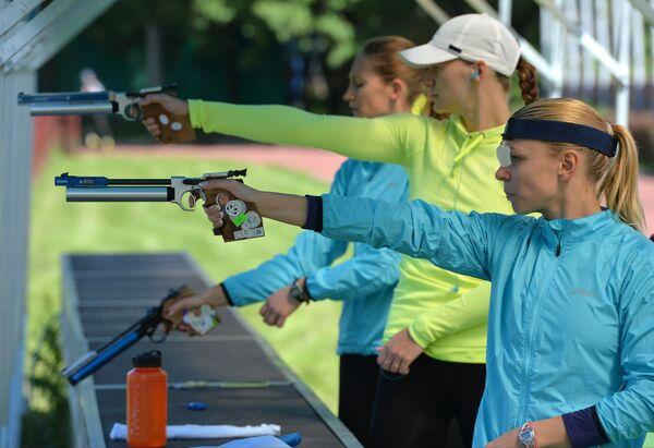 Тренировка сборной России по современному пятиборью