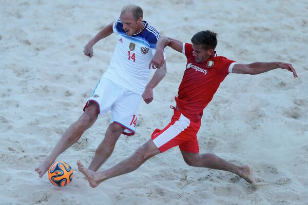 Пляжный футбол. Этап Евролиги. Матч Россия - Белоруссия