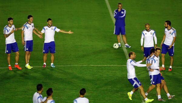 Футболисты сборной Аргентины на тренировке