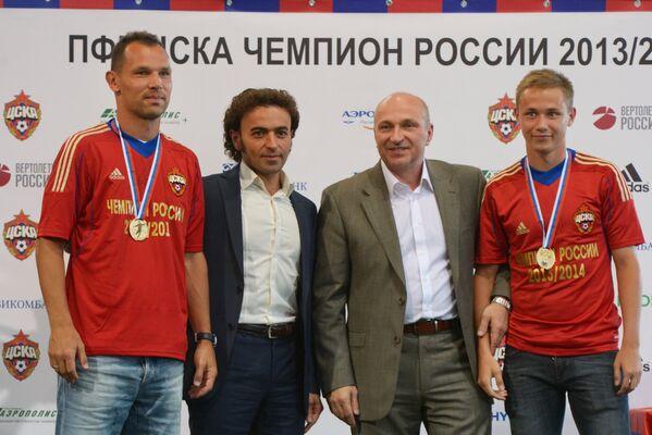 Сергей Игнашевич, Роман Бабаев, Сергей Чебан и Дмитрий Ефремов (слева направо)