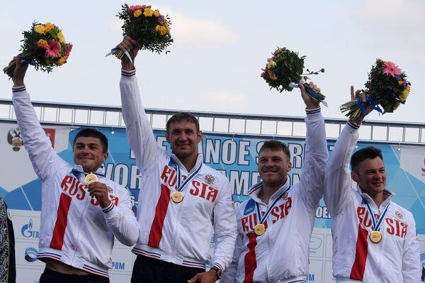 Иван Штыль, Алексей Коровашков, Андрей Крайтор, Николай Липкин (Россия)