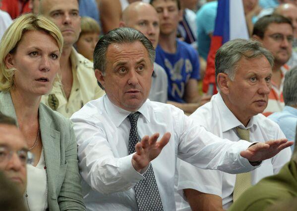 Юлия Аникеева и министр спорта РФ Виталий Мутко