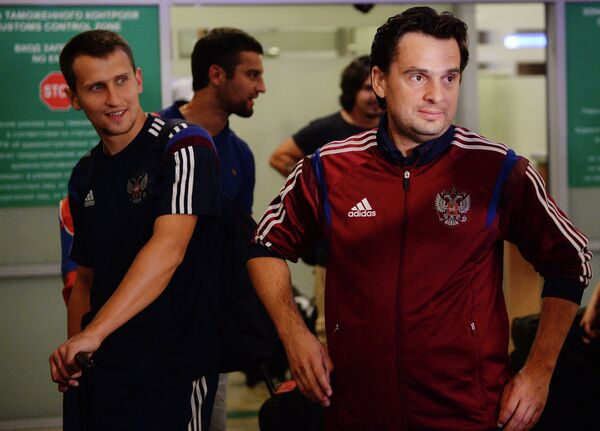 Главный тренер сборной России по пляжному футболу Михаил Лихачев