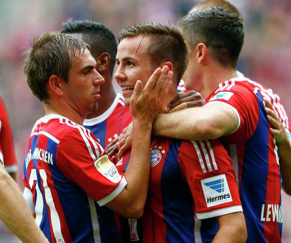 Футболисты Баварии Филипп Лам и Марио Гетце (слева направо)