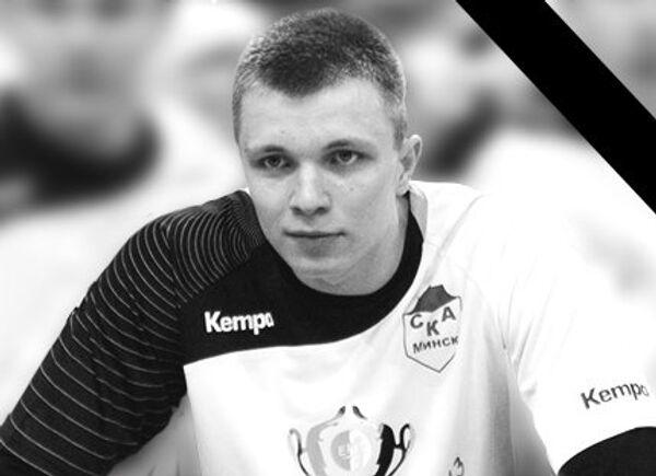 Игрок сборной Белоруссии по гандболу Роман Лукашук