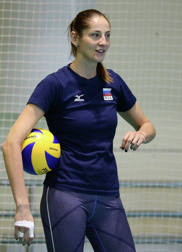 Нападающая сборной России Татьяна Кошелева