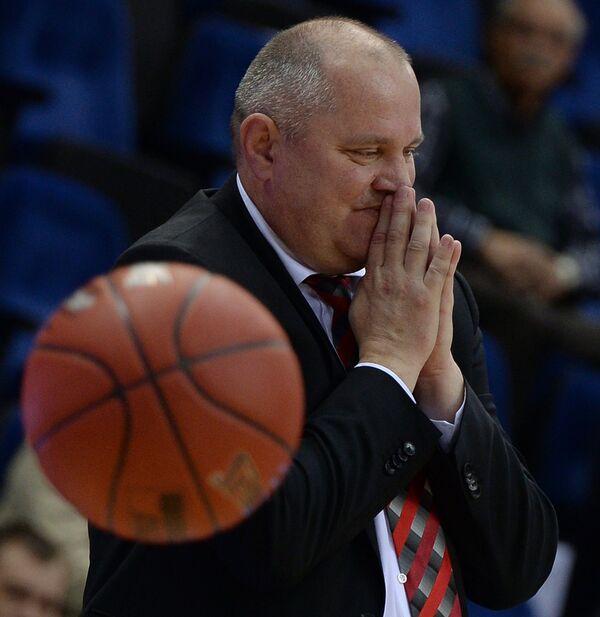 Главный тренер БК Летувос Ритас Виргиниюс Шешкус