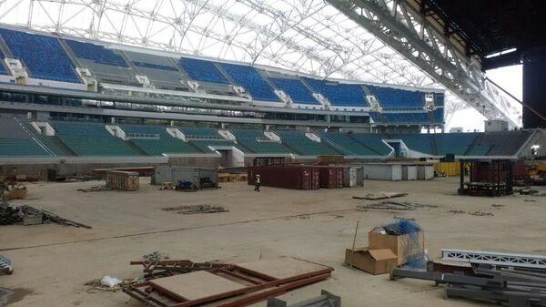 Стадион Фишт в Сочи за час до начала инспекции ФИФА