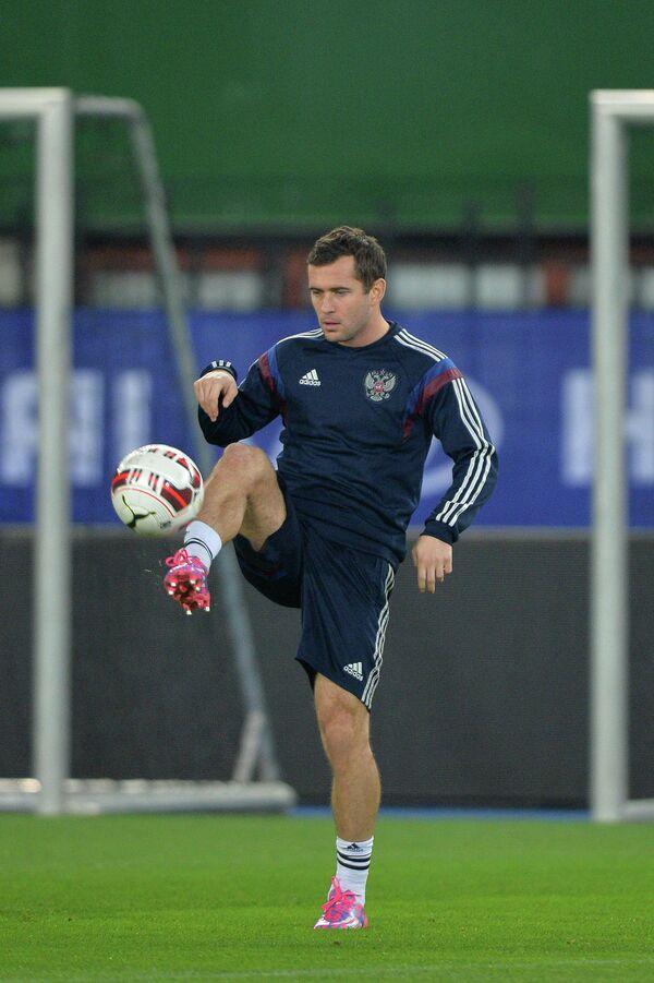 Нападающий сборной России по футболу Александр Кержаков