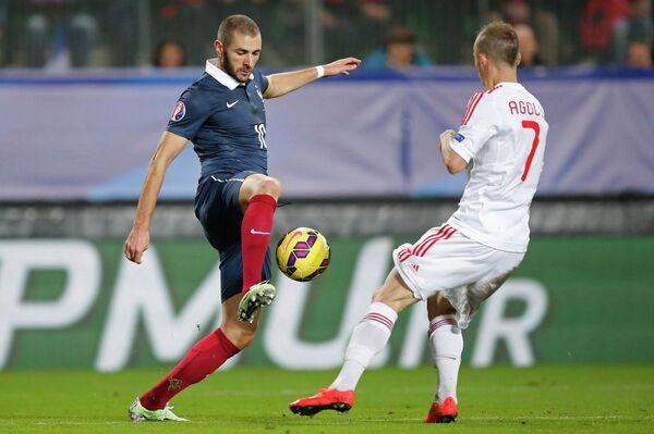 Игровой момент матча Франция - Албания