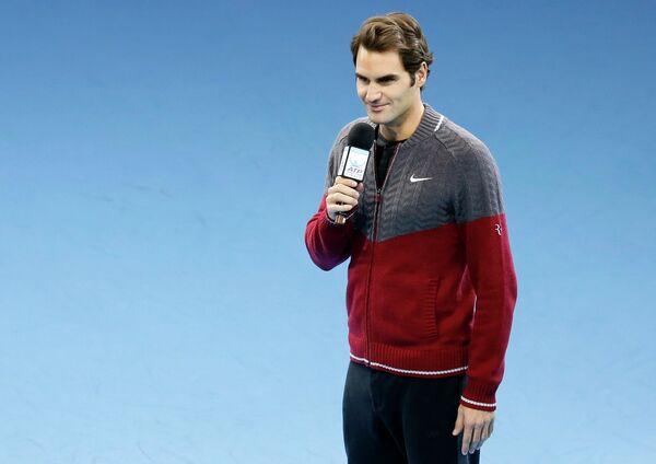 Роджер Федерер, снявшийся с финального матча итогового теннисного турнира года ATP