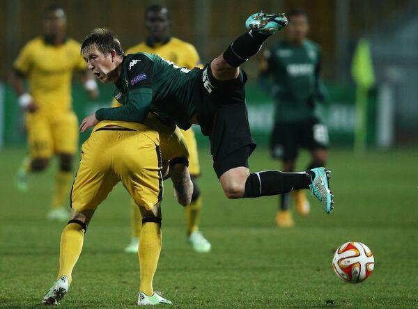 Игровой момент матча Краснодар - Лилль
