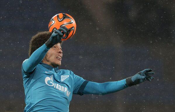 Полузащитник Зенита Аксель Витсель в матче 17-го тура чемпионата России по футболу