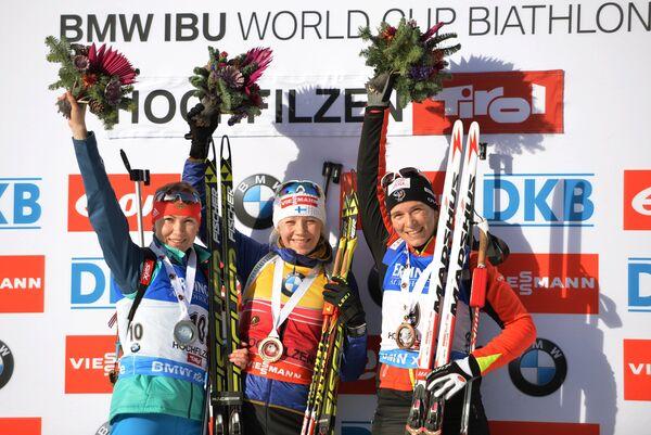 Екатерина Глазырина, Кайса Мякяряйнен и Анаис Бескон (слева направо)