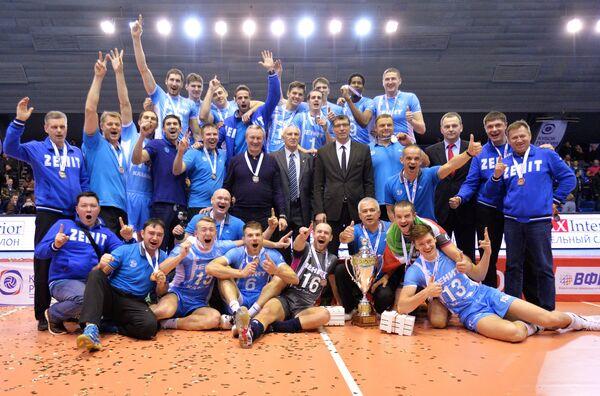 Обладатели кубка России 2014 ВК Зенит-Казань