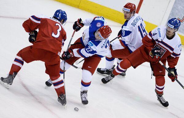 Хоккей. Молодежный ЧМ. Матч Россия - Чехия