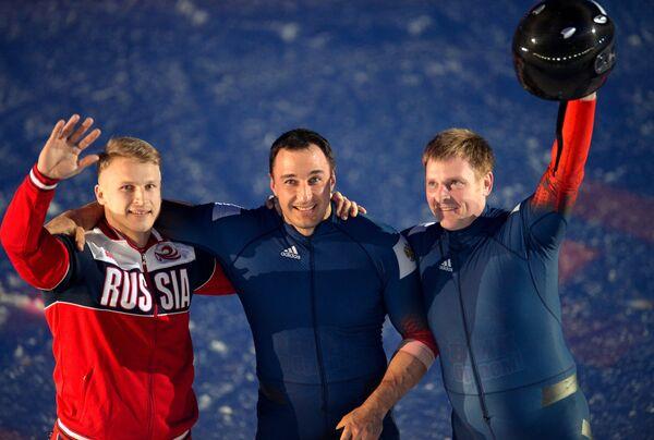 Дмитрий Труненков, Алексей Воевода и Александр Зубков (слева направо)