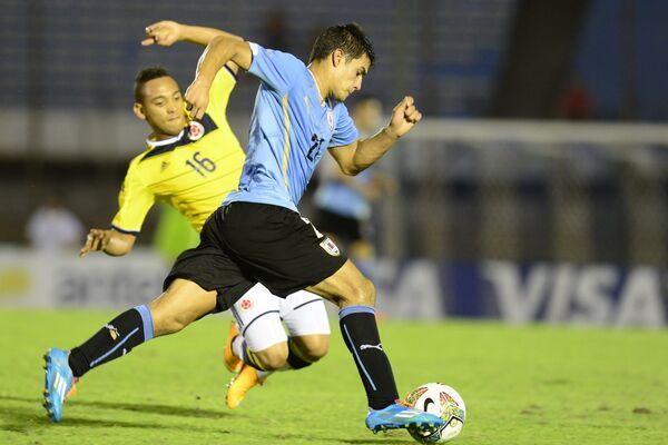 Защитник молодежной сборной Уругвая по футболу и клуба Данубио Гильермо Кутуньо
