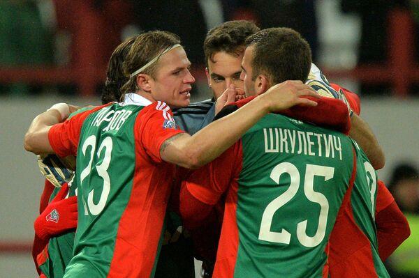 Игроки Локомотива во время серии пенальти