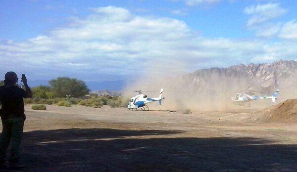 Службы экстренного реагирования пребывают на место крушения вертолетов в Аргентине