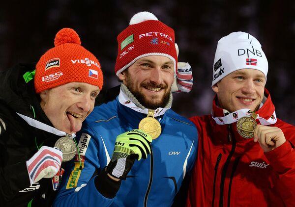 Ондржей Моравец, Яков Фак и Тарьей Бё (слева направо)