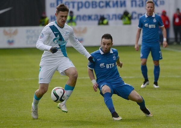Игровой момент матча Динамо - Зенит